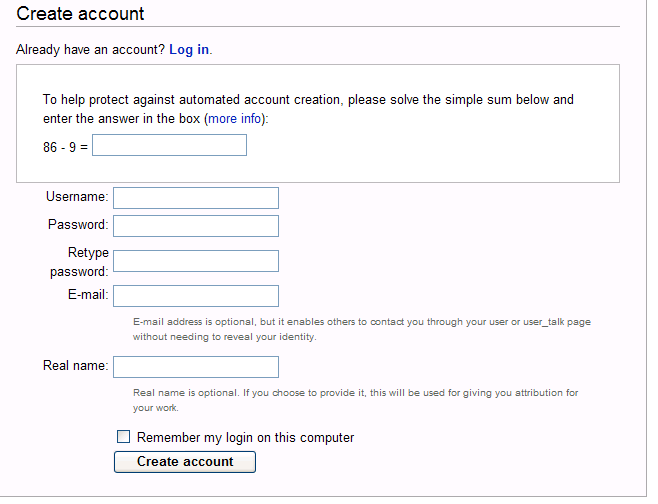 how to create wiki account